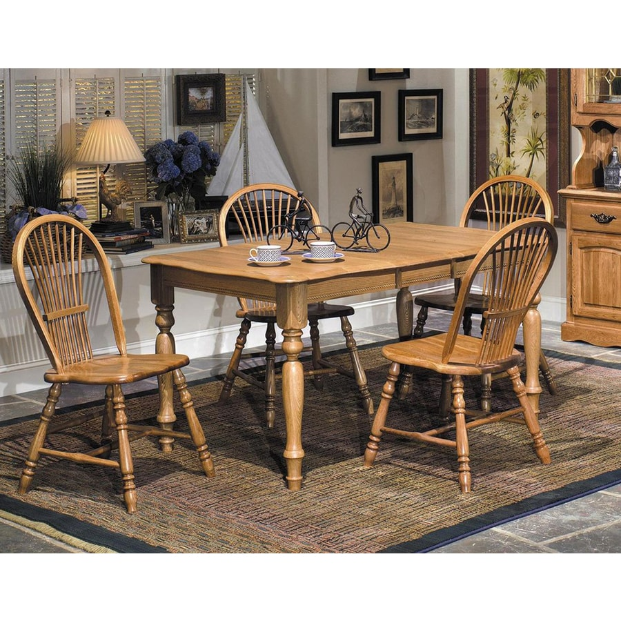 Brooks Furniture Country Oak Wood Extending Dining Table