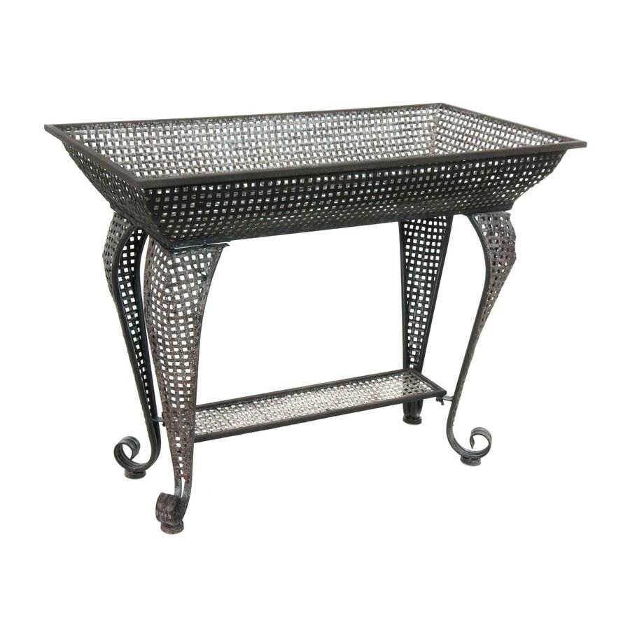 Oriental Furniture 21.75-in Indoor/Outdoor Rectangular Cast Iron Plant Stand
