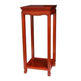Gentil Oriental Furniture 28 In Honey Indoor Square Wood Plant Stand