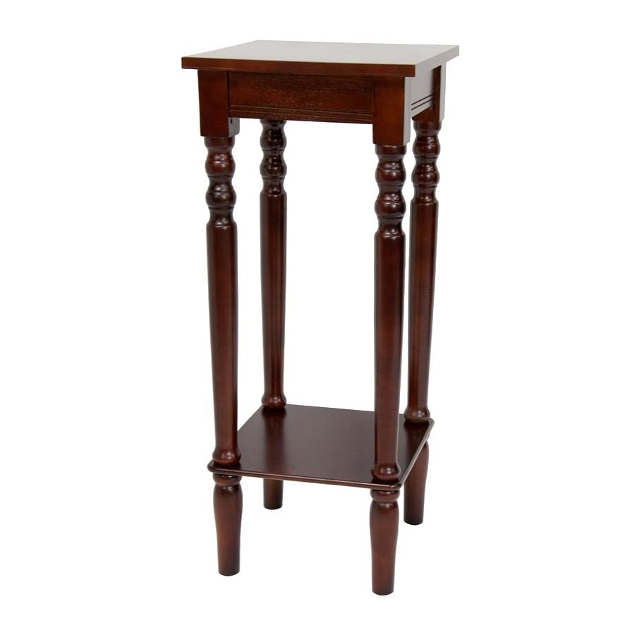 Oriental Furniture 28.5-in Cherry Indoor Square Wood Plant Stand