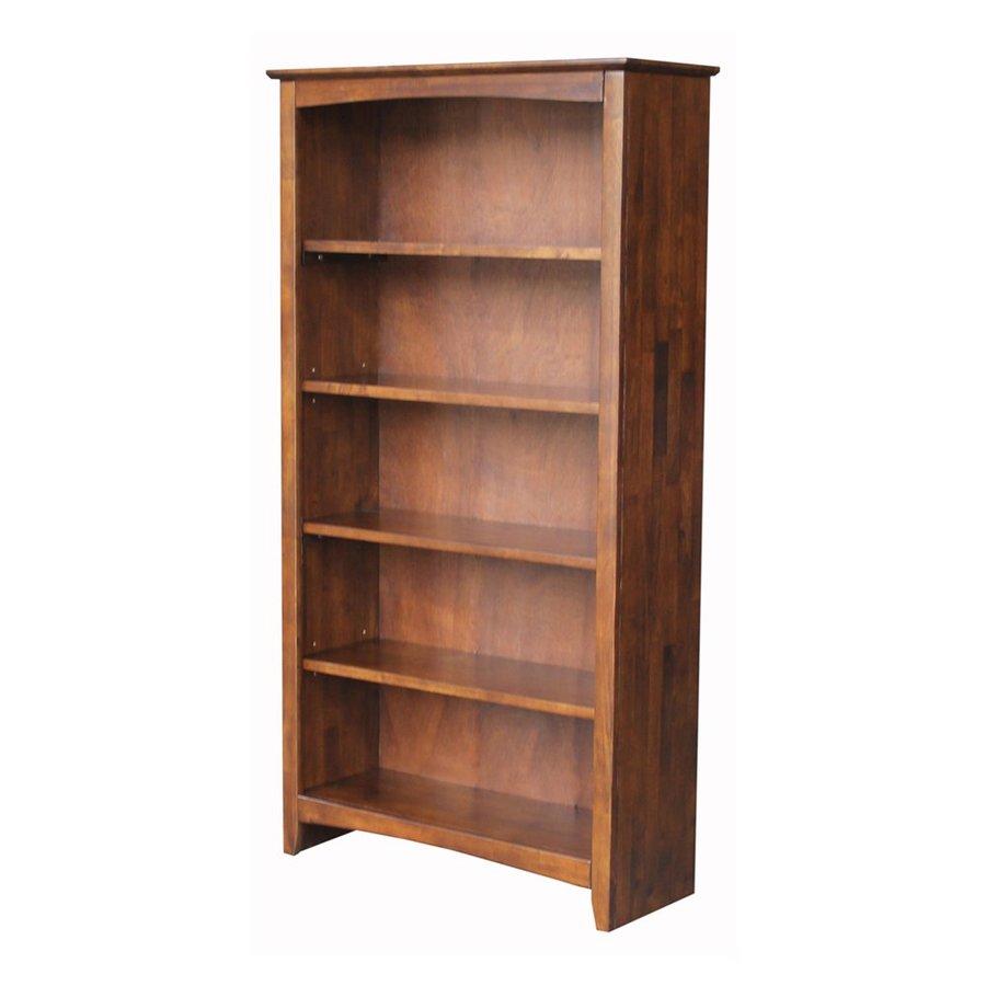 International Concepts Home Accents Espresso Wood 5-Shelf Bookcase