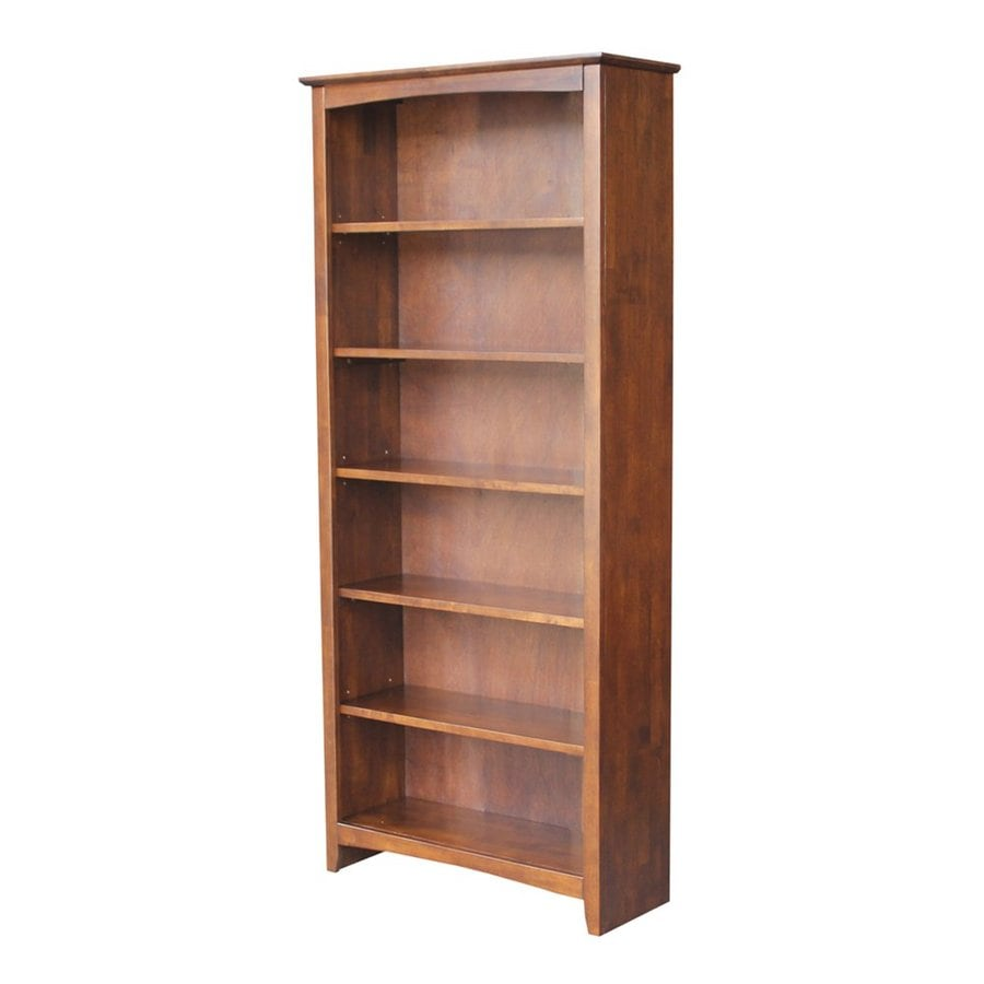 International Concepts Home Accents Espresso Wood 6-Shelf Bookcase