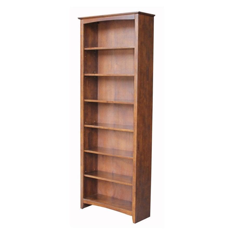 International Concepts Home Accents Espresso Wood 7-Shelf Bookcase