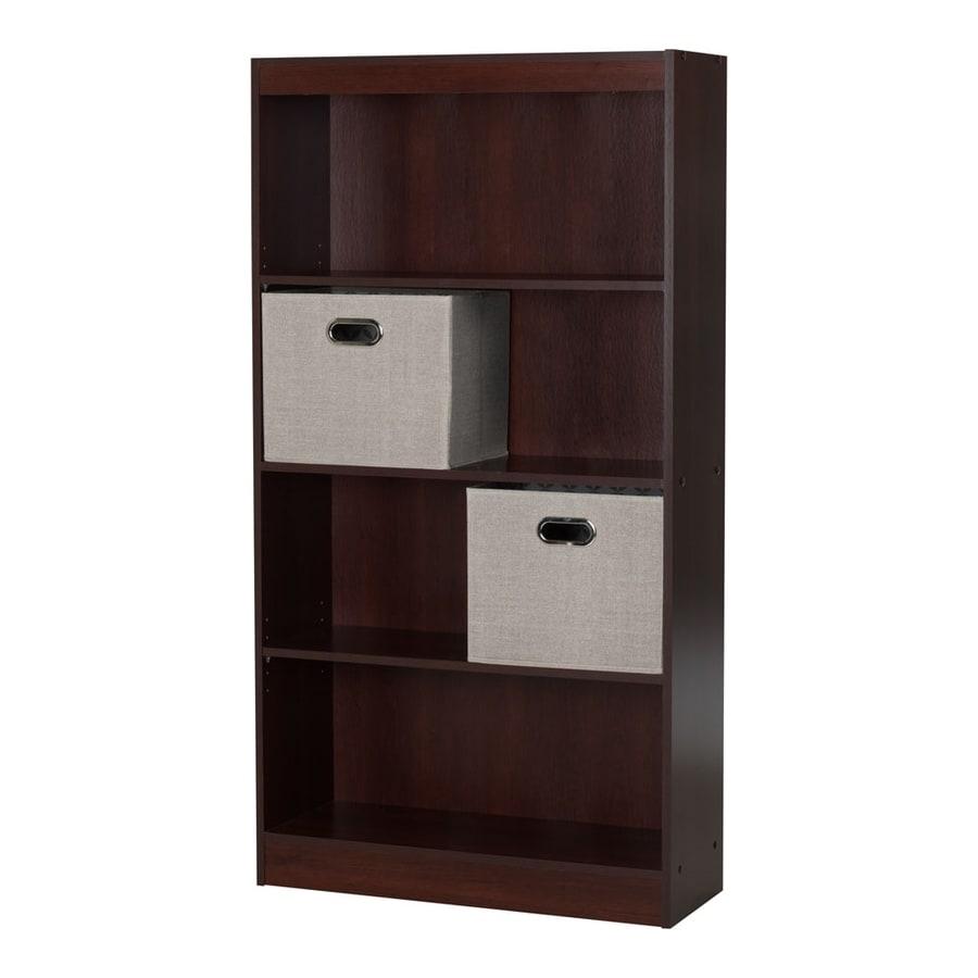 South Shore Furniture Axess Royal Cherry Composite 4-Shelf Bookcase