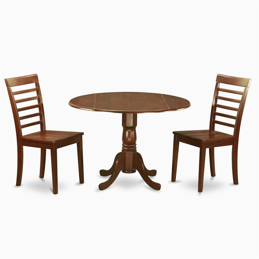 East West Furniture Dublin Mahogany Dining Set with Round Dining (29-in To 31-in) Table