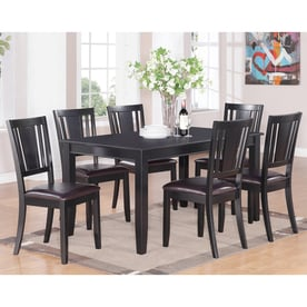 East West Furniture Dudley Black 7 Piece Dining Set With Table