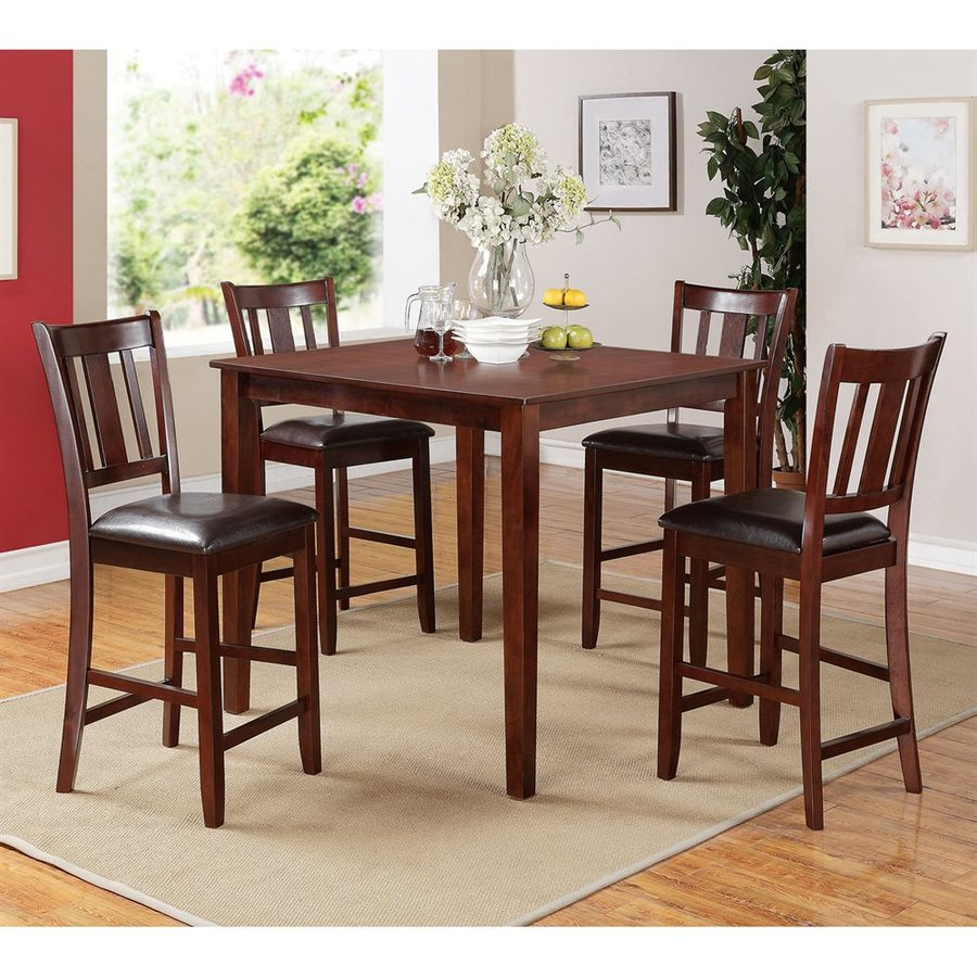 ACME Furniture Odran Espresso 5-Piece Dining Set with Counter Height Table