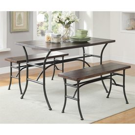ACME Furniture Domingo Antique Black 3 Piece Dining Set With Dining Table