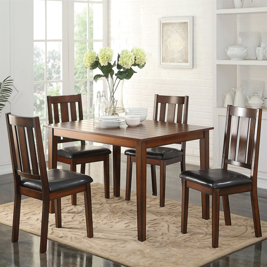 ACME Furniture Flihvine Black 5-Piece Dining Set with Dining Table
