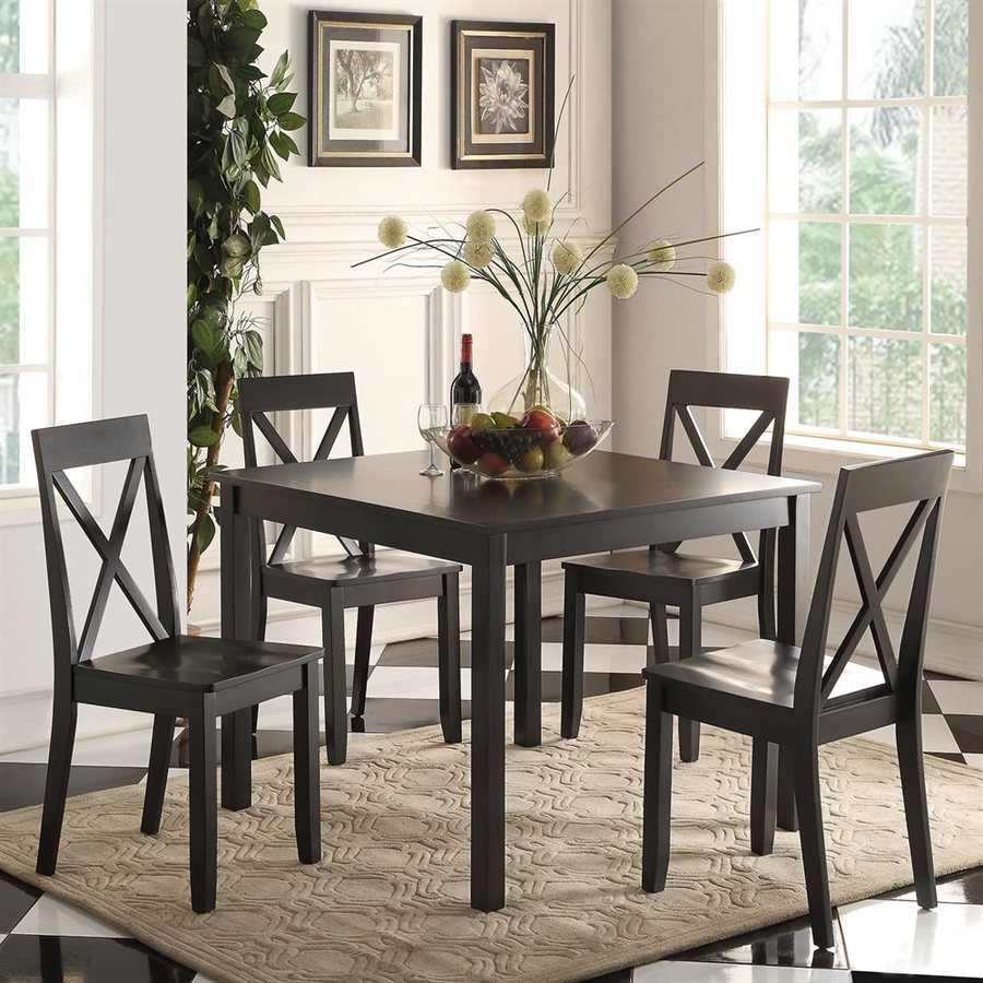 ACME Furniture Zlipury Black 5-Piece Dining Set with Dining Table