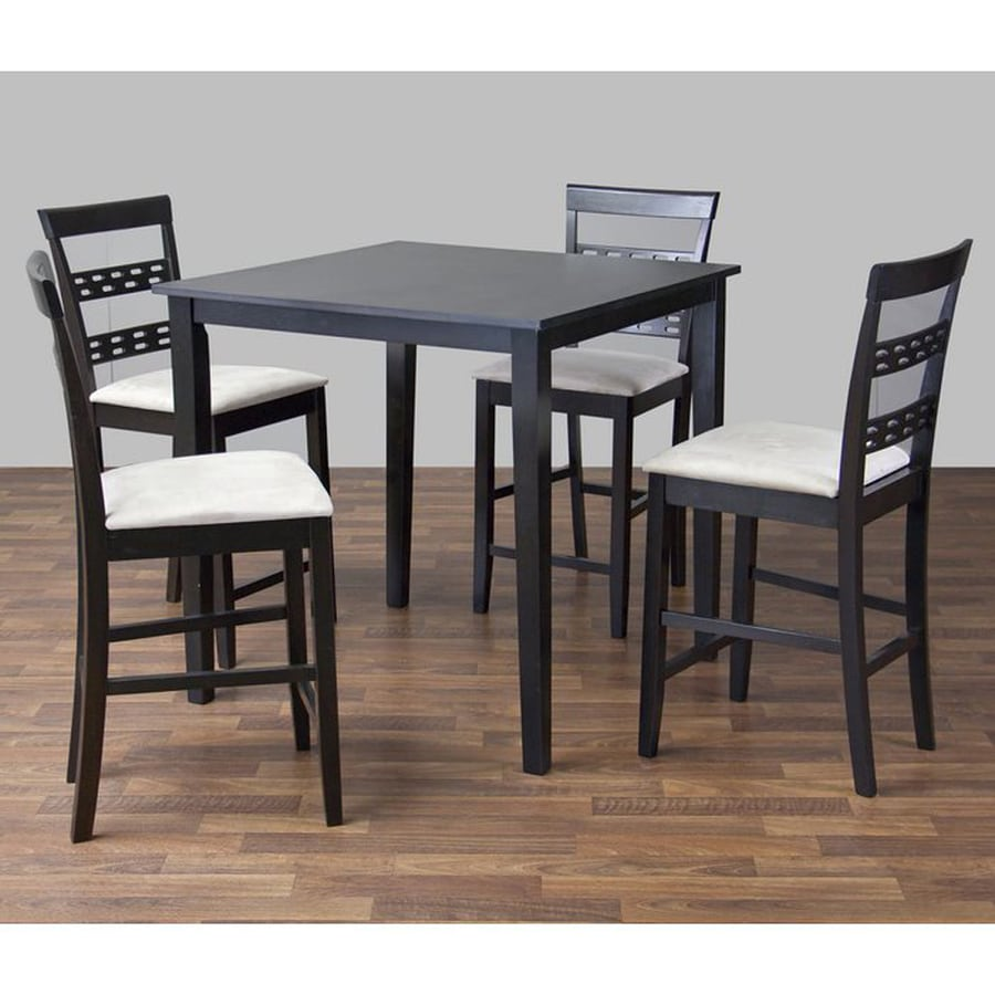 Baxton Studio Seville Dark brown Dining Set with Square Counter (35-in To 37-in) Table