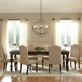 Baxton Studio Zachary Beige 7 Piece Dining Set With Table