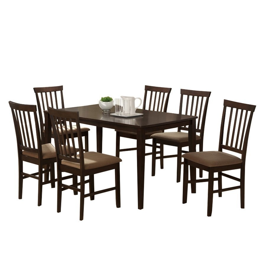 Baxton Studio Tiffany Espresso 5-Piece Dining Set with Dining Table