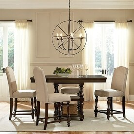 Baxton Studio Zachary Dark Brown Dining Set with Counter Height Table & Shop Dining Sets at Lowes.com