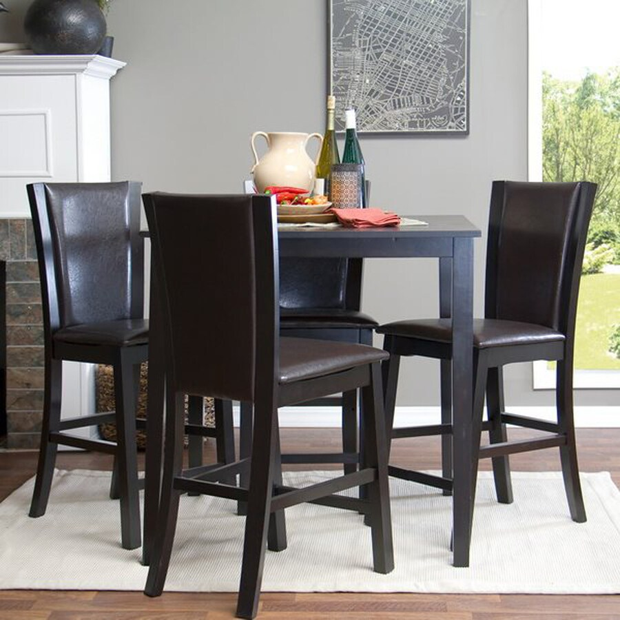 Baxton Studio Wing Counter Dark brown Dining Set with Square Counter (35-in To 37-in) Table