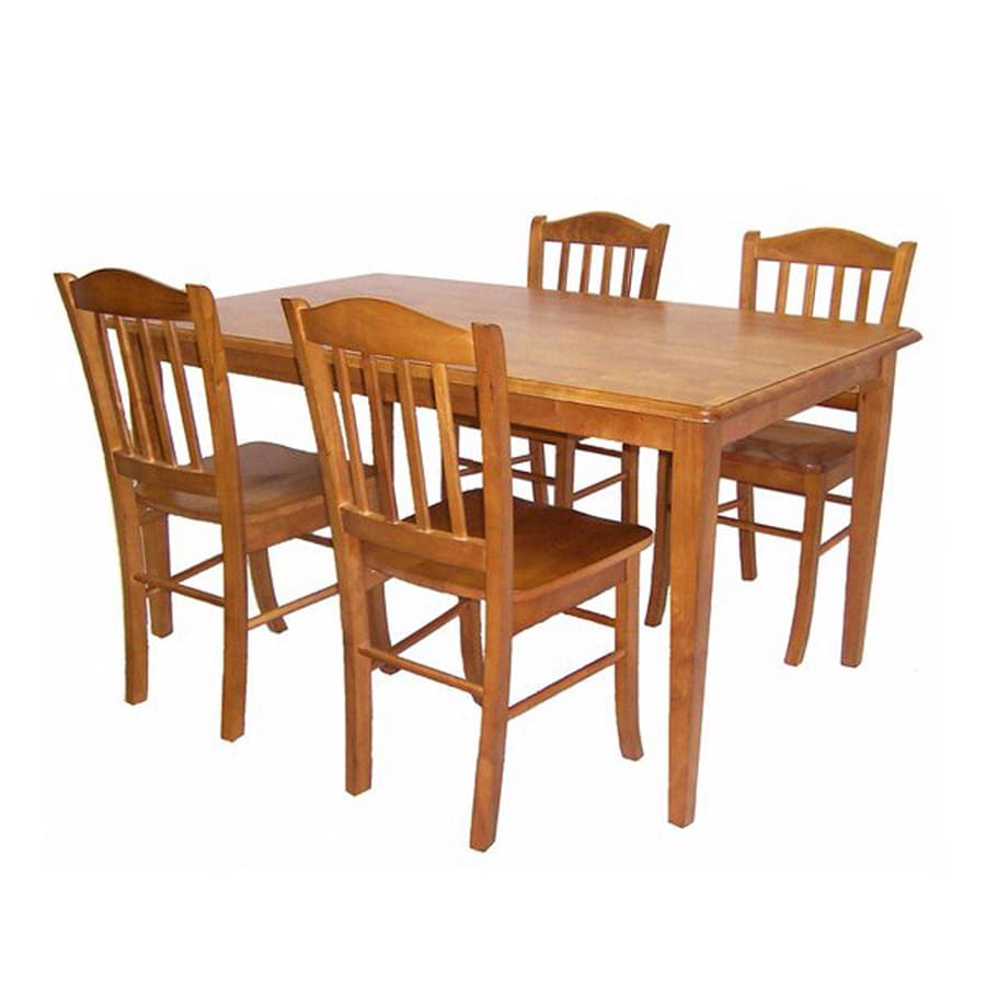 Boraam Industries Shaker Oak 5 Piece Dining Set With Dining Table