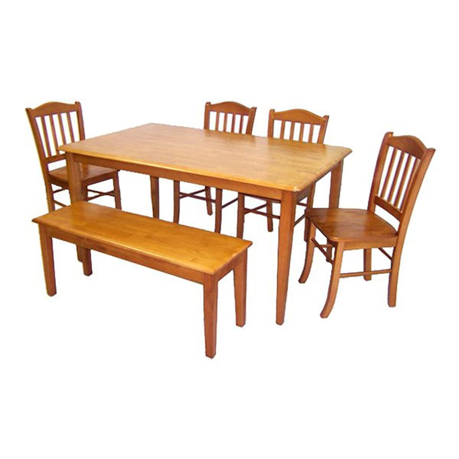 Boraam Industries Shaker Oak Dining Set with Rectangular Dining (29-in To 31-in) Table