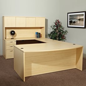 Office Star OSP Furniture Napa Maple Reception Desk