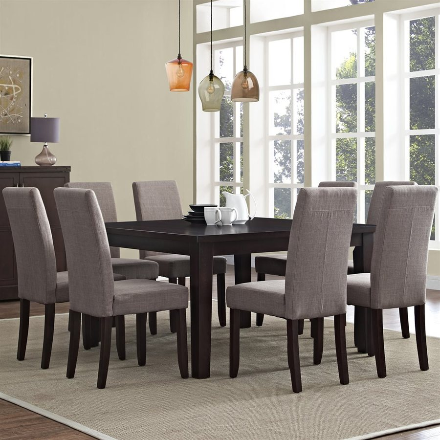 Simpli Home Acadian Java Brown Dining Set with Square Table