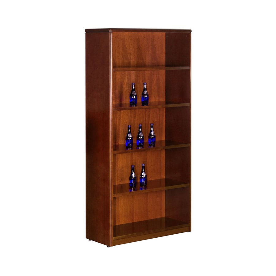 Office Star Sonoma Dark Cherry Wood 5-Shelf Bookcase