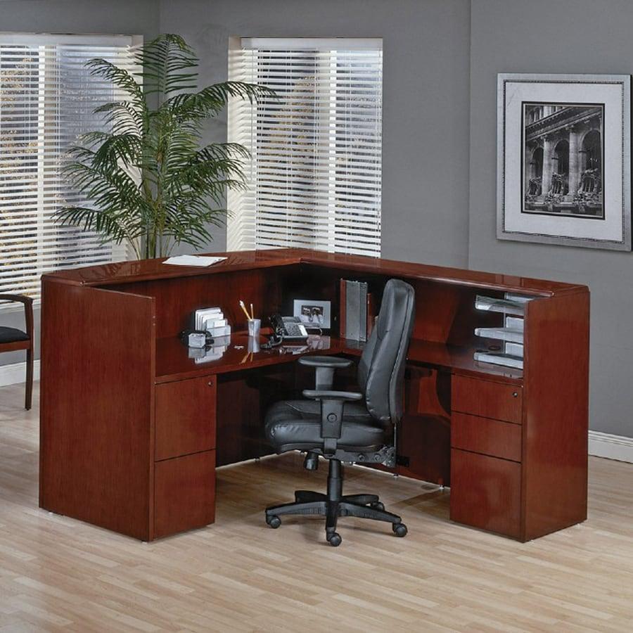 Office Star OSP Furniture Sonoma Contemporary Dark cherry L-Shaped Desk