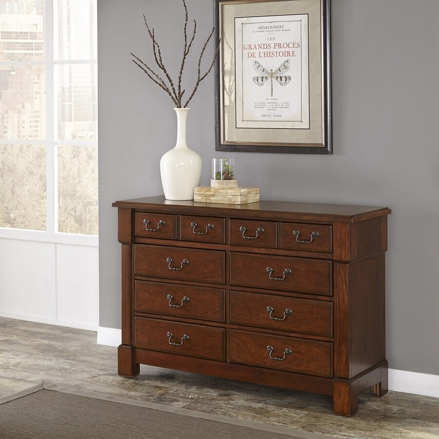 Home Styles Aspen Rustic Cherry 8-Drawer Double Dresser