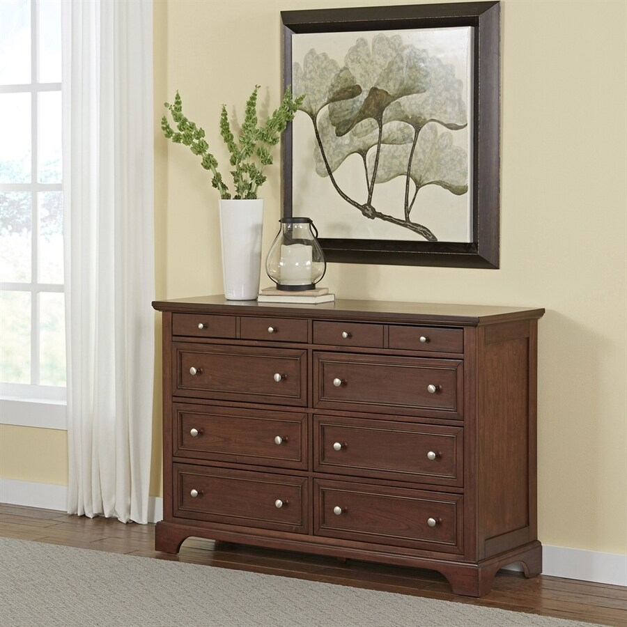 Home Styles Chesapeake Cherry 8-Drawer Double Dresser