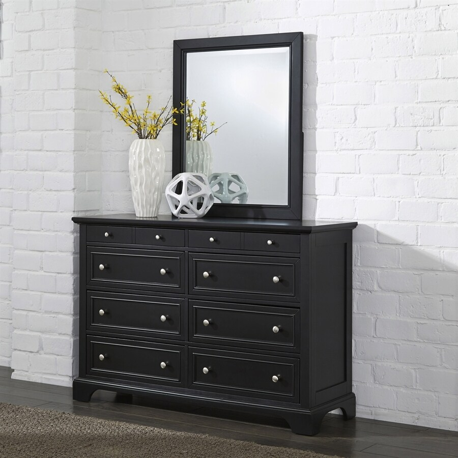 Home Styles Bedford Black 8-Drawer Double Dresser
