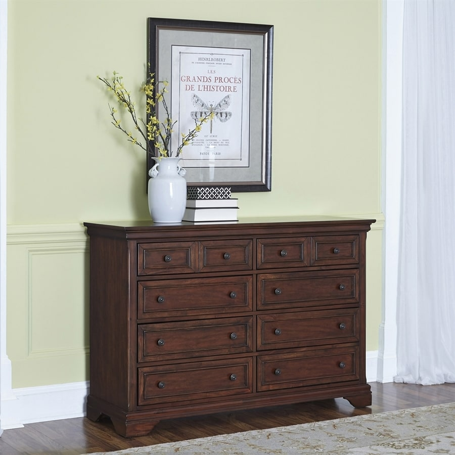 Home Styles Lafayette Cherry 8-Drawer Double Dresser
