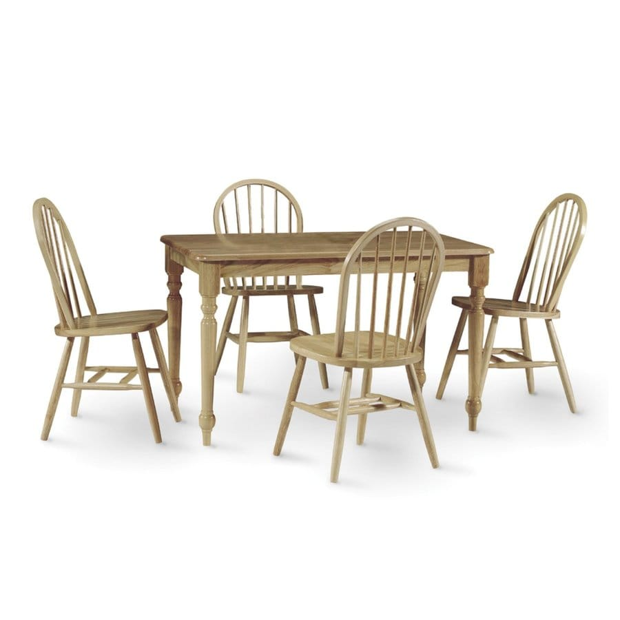 International Concepts Natural Dining Set with Rectangular Dining Table