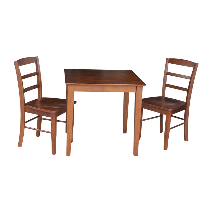 International Concepts Espresso 3-Piece Dining Set with Dining Table
