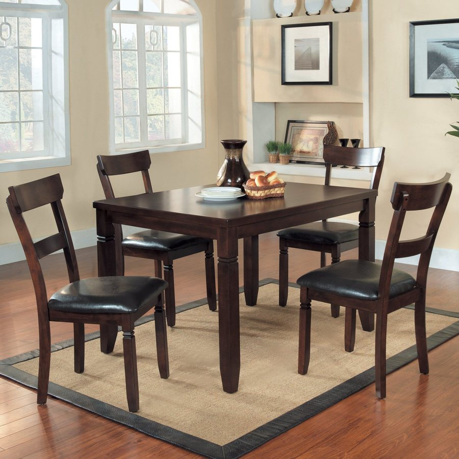 Homelegance Oklahoma Espresso 5-Piece Dining Set with Dining Table
