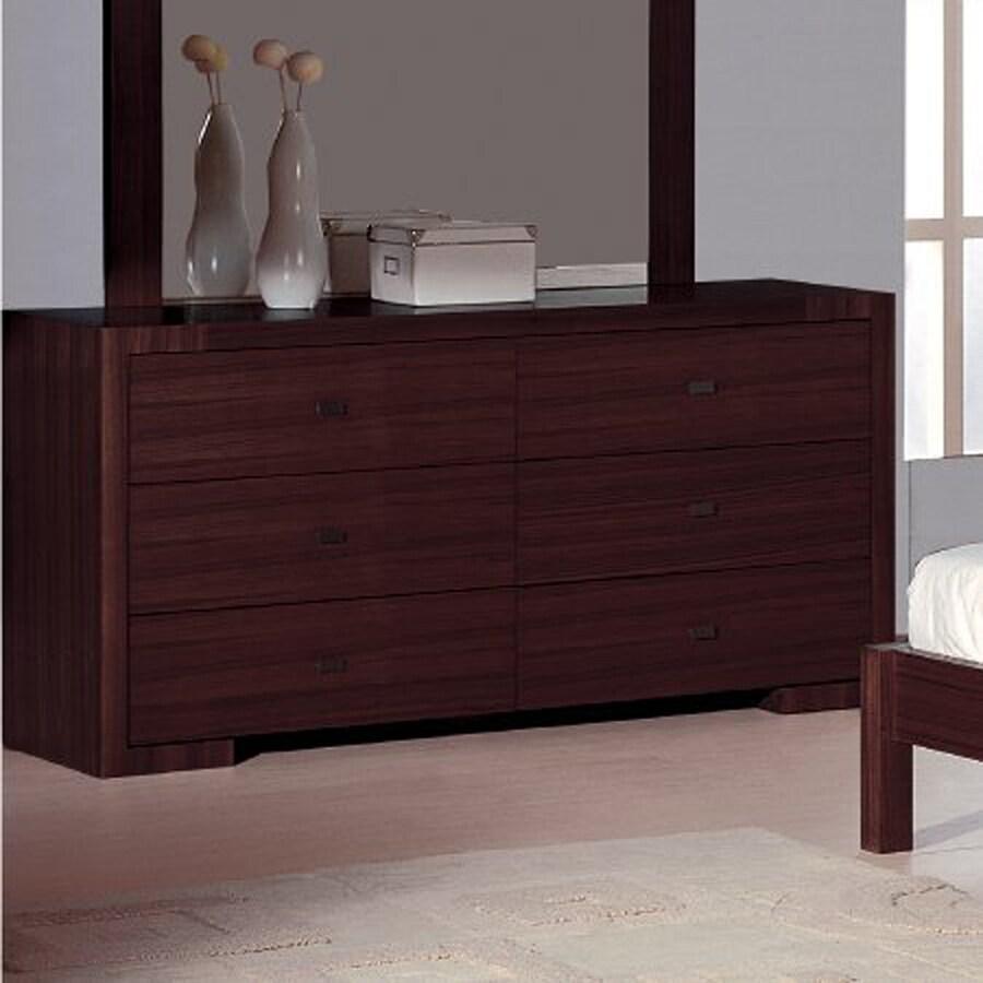 Beverly Hills Furniture Alpha Wenge 6 Drawer Double Dresser