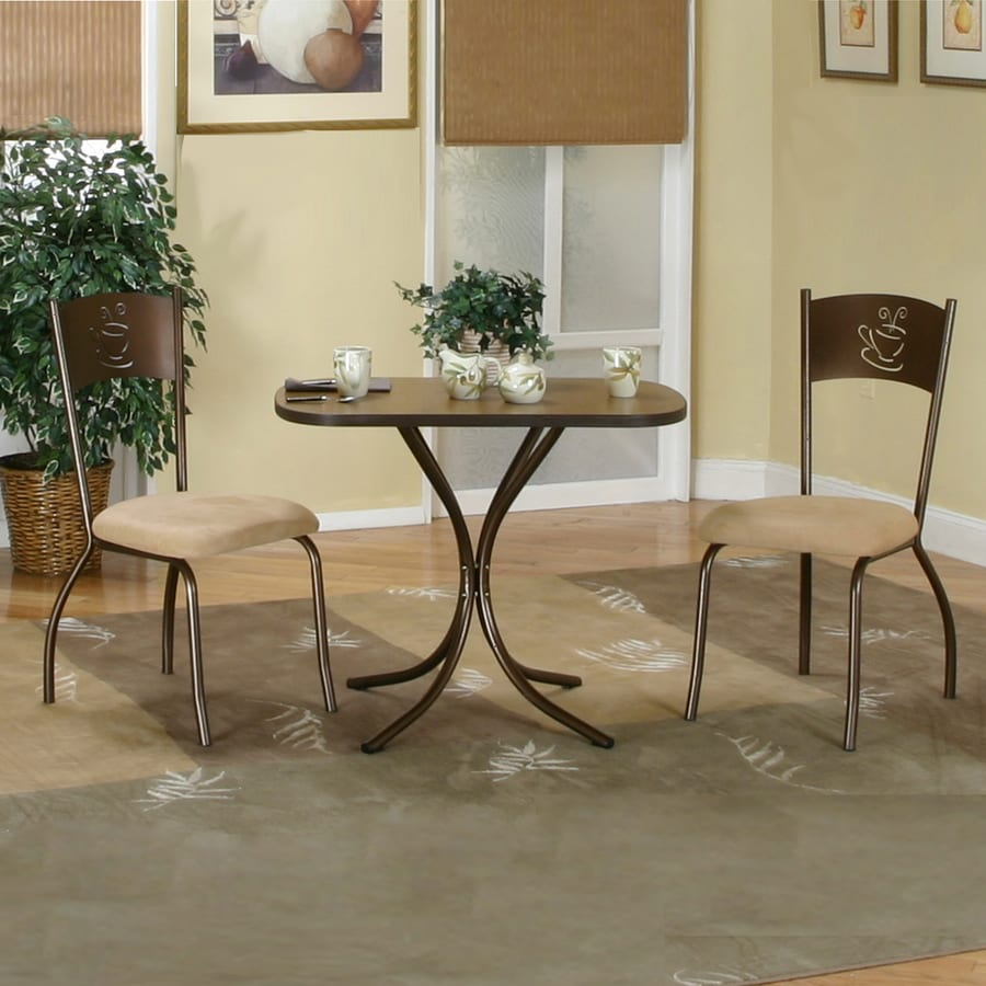 Sunset Trading Cappuccino Brown Confetti Dining Set with Rectangular Dining Table