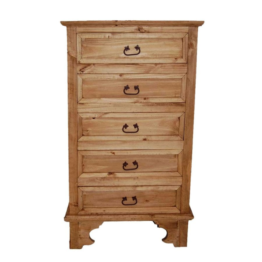 Million Dollar Rustic Hacienda Natural Pine 5-Drawer Chest