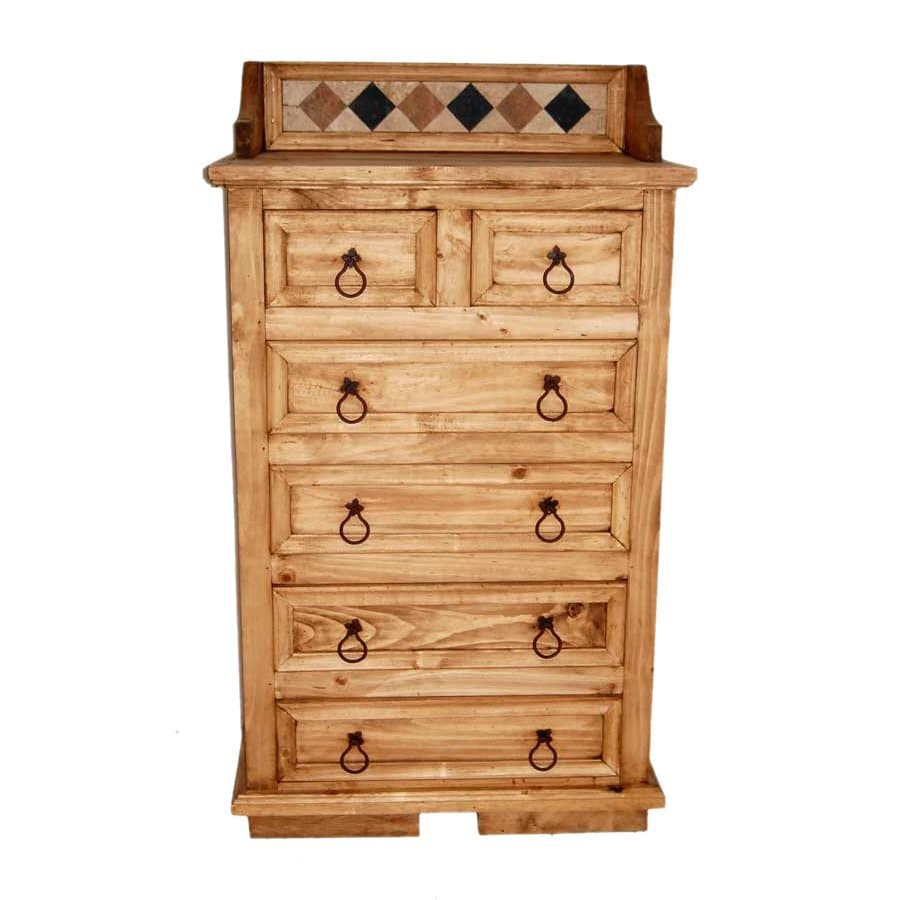 Million Dollar Rustic Acapulco Natural Pine 6-Drawer Chest