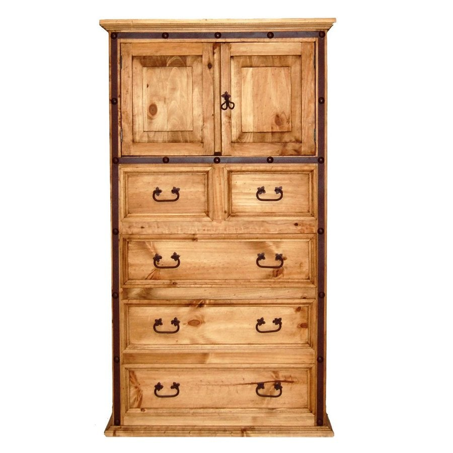 Million Dollar Rustic Hierro Natural Pine-Drawer Chest