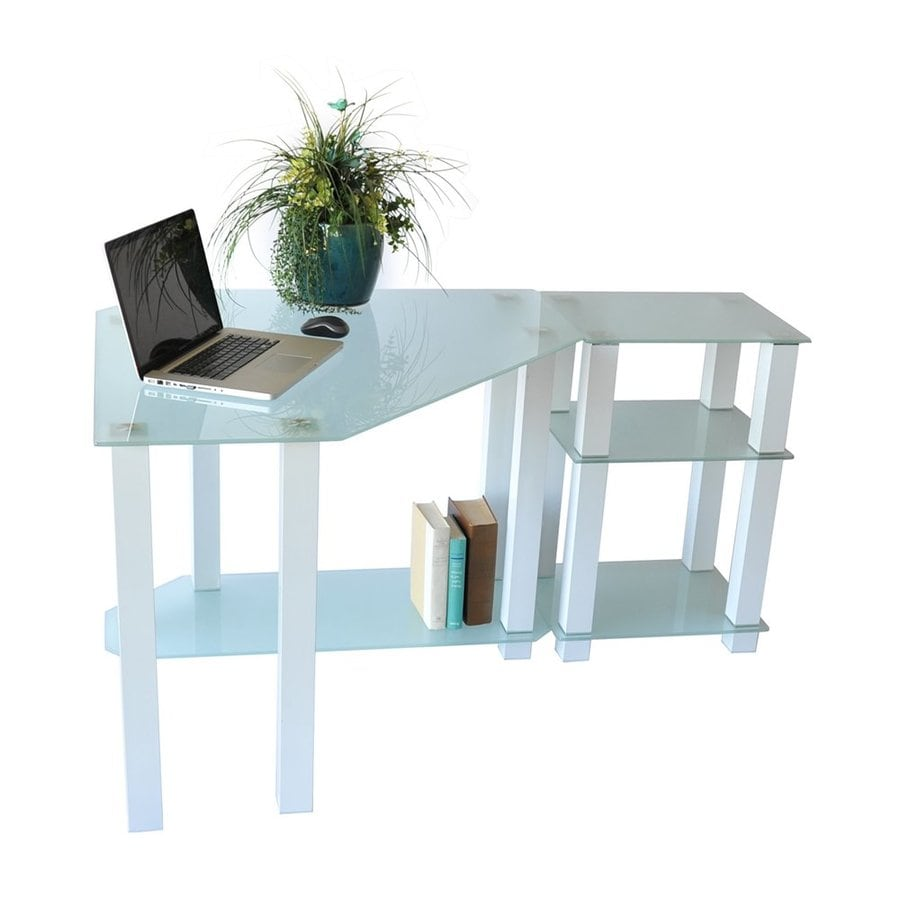 RTA Home & Office Contemporary Frosted Computer Desk