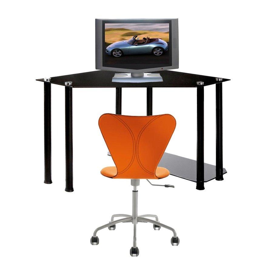 RTA Home & Office Contemporary Black Computer Desk