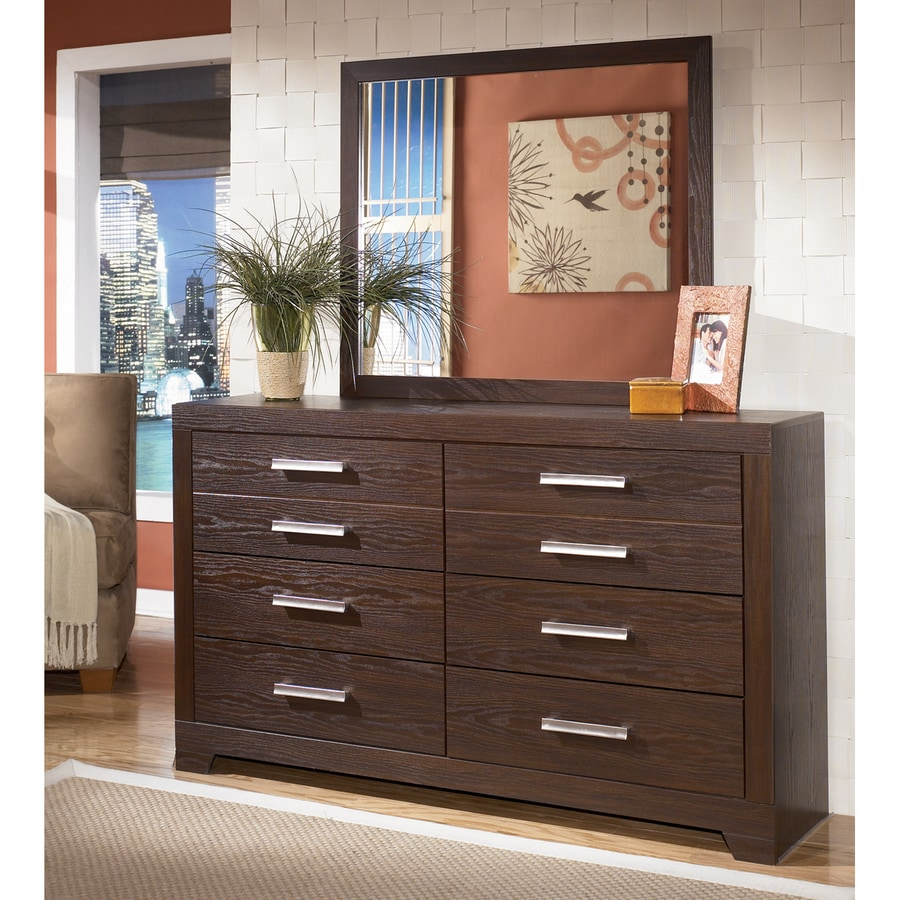 Signature Design by Ashley Aleydis Replicated Oak Grain 6-Drawer Double Dresser