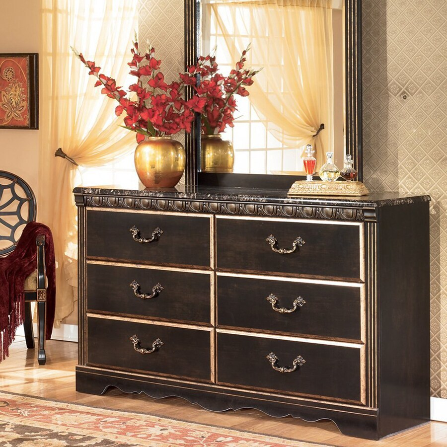 Signature Design by Ashley Coal Creek Dark Brown 6-Drawer Double Dresser