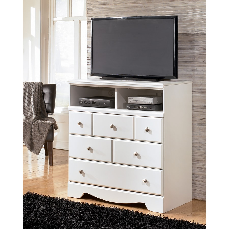 Signature Design by Ashley Weeki White TV Cabinet