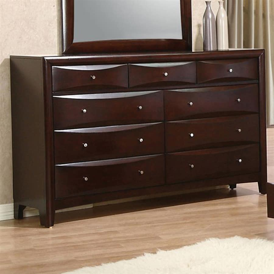 Coaster Fine Furniture Phoenix Cuccino 9 Drawer Double Dresser