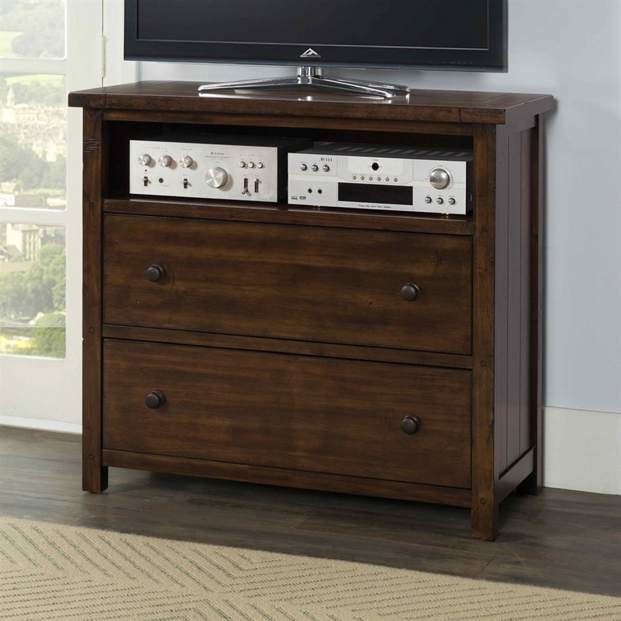 Picket House Furnishings Darien Deep Chestnut TV Cabinet