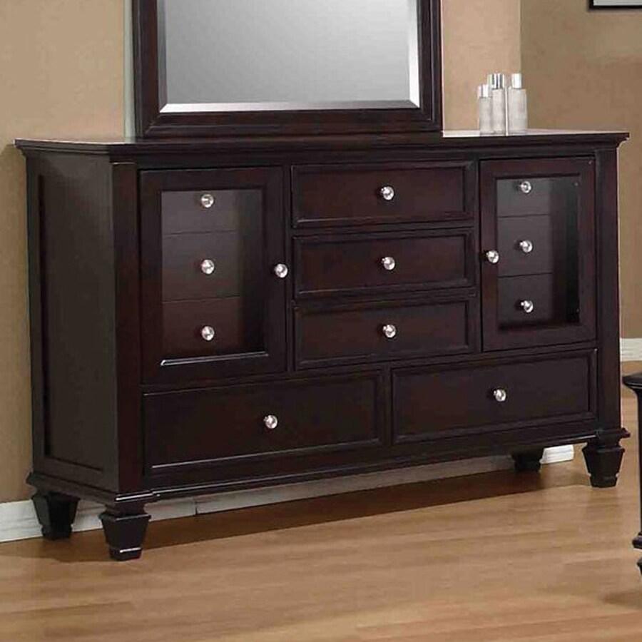 Coaster Fine Furniture Sandy Beach Cappuccino 11-Drawer Combo Dresser