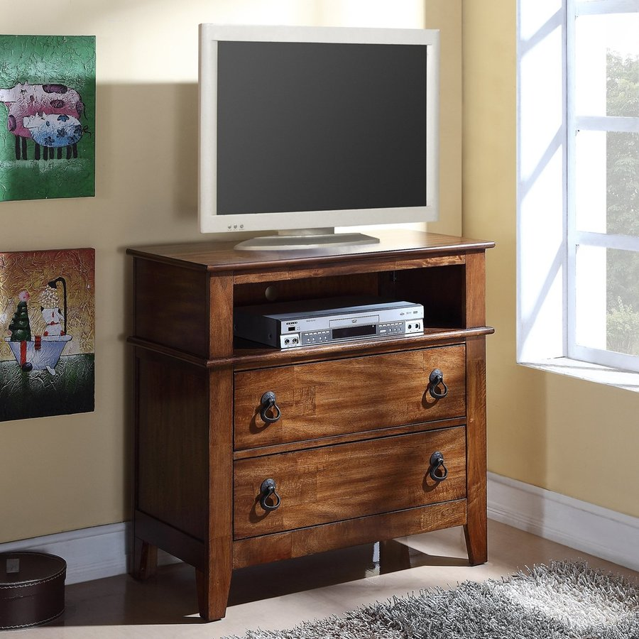 Picket House Furnishings Travis Light Brown Lacquer TV Cabinet