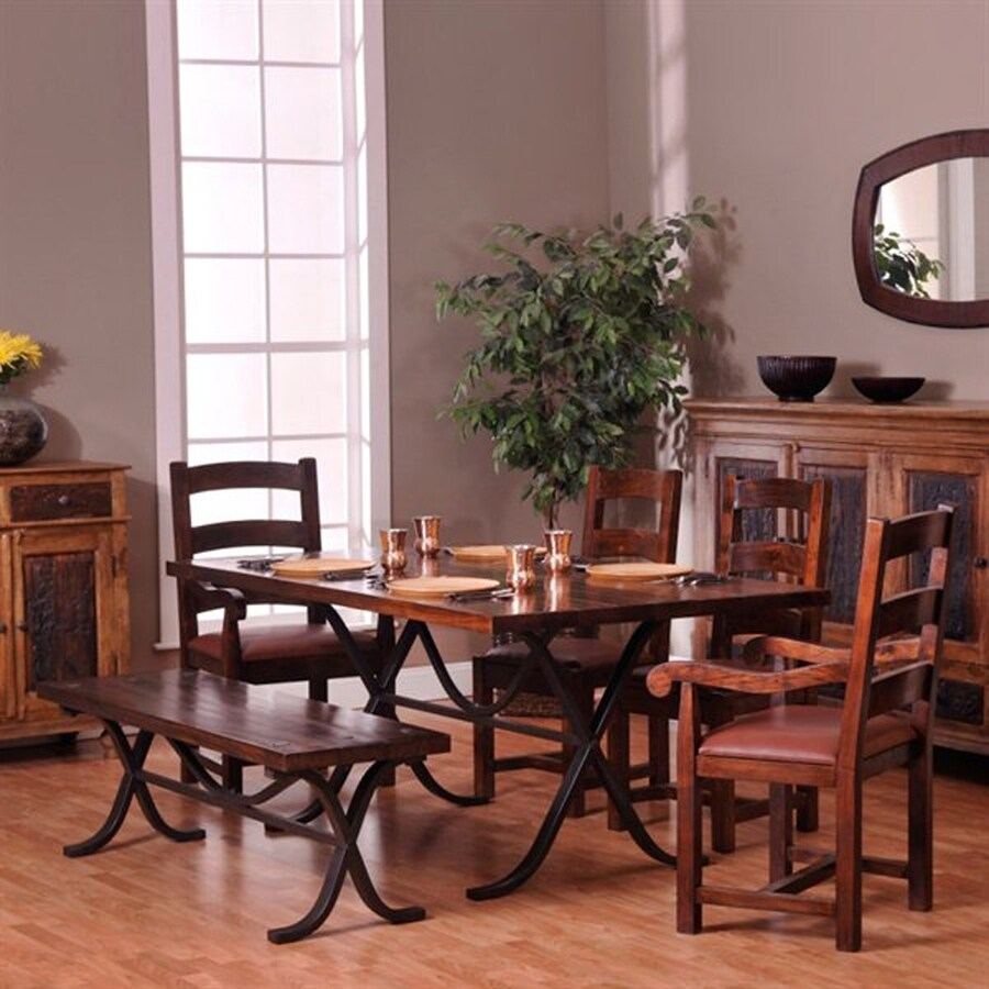 William Sheppee Rajah Dark Walnut 7-Piece Dining Set with Dining Table