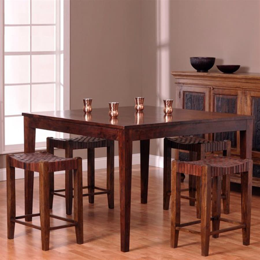 William Sheppee Sonoma Walnut 5-Piece Dining Set with Counter Height Table
