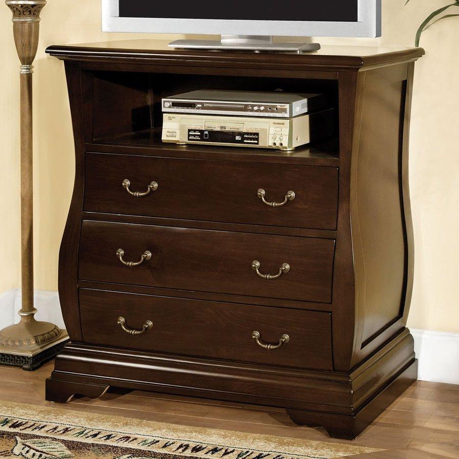 Furniture of America Brunswick Dark Walnut TV Cabinet
