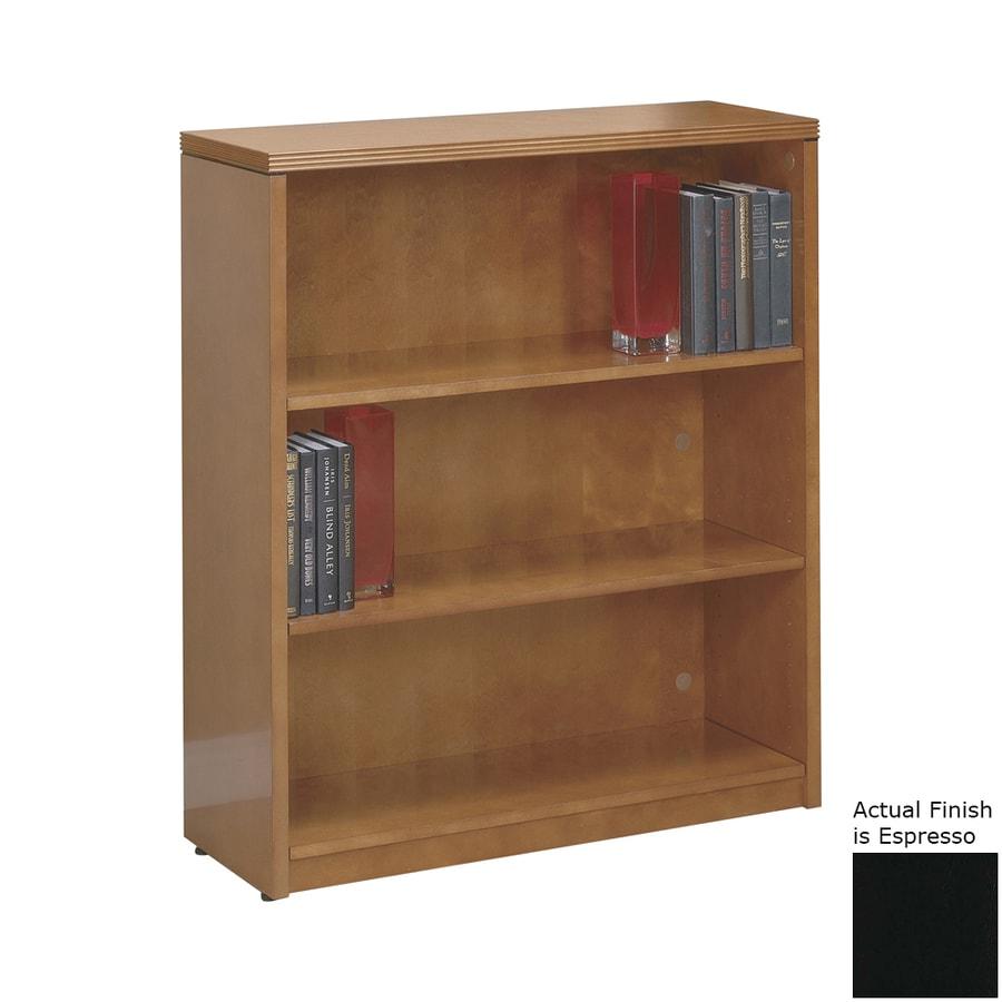 Office Star KenWood Espresso Wood 3-Shelf Bookcase